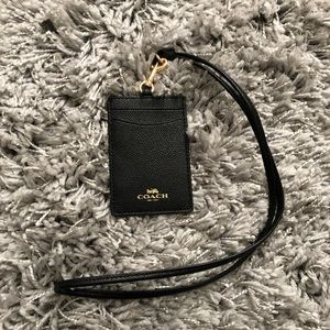 Coach ID Holder with Lanyard